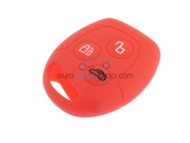 Key Cover Ford - 3 button- material Soft Rubber- Color Red - after market product