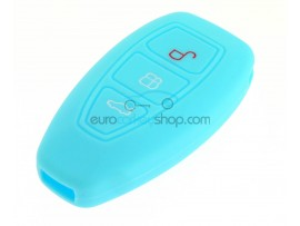Key Cover Ford - 3 button- material Soft Rubber- Color Lightblue - after market product