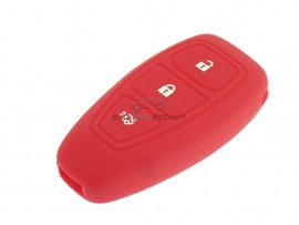 Key case Ford - 3 button- material Soft Rubber- Color Red - after market product