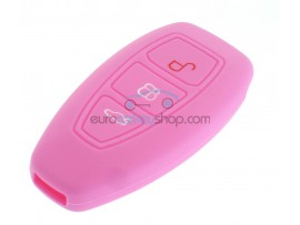 Key Cover Ford - 3 button- material Soft Rubber- Color PINK - after market product