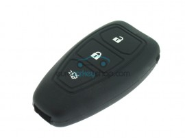 Key Cover Ford - 3 button- material Soft Rubber- Color BLACK - after market product