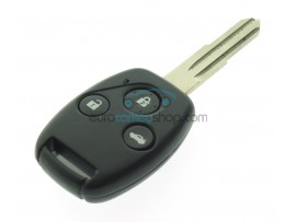 Honda 3 Button Remote Key with pointed end keyblade - 434 Mhz - ID46 chip - key blade HON58R - after market product