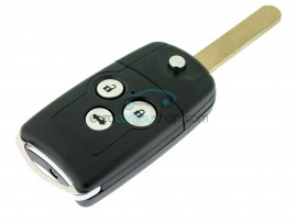 Honda 3 Button Remote Key Case - Key Blade HON66 - Honda Accord - CR-V - after market product