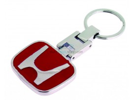Luxury keyring Honda - with logo on both sides - color red - after market product