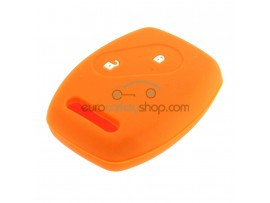 Key Cover Honda- 2 button- material Soft Rubber- Color Orange - after market product
