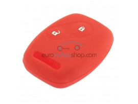 Key Cover Honda- 2 button- material Soft Rubber- Color Red - after market product