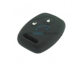 Key Cover Honda- 2 button- material Soft Rubber- Color Black - after market product
