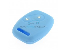Key Cover Honda- 2 button- material Soft Rubber- Color Light blue - after market product