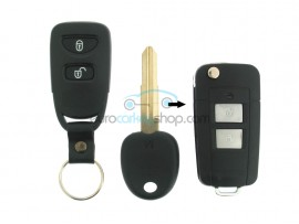 Hyundai 2 Button Remote Flip Key Fob Case for item number HYU103 and HYU113 - after market product