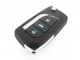 Toyota Avensis key - 2 and 3 buttons - 4C chip - 2004 - 2009 - after market product