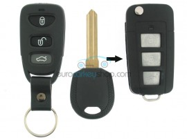 Kia 3 Button Remote Flip Key Fob Case for item number KIA101 - Key Blade HYN14 - after market product