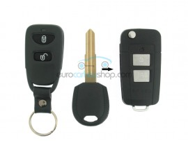 Kia 2 Button Remote Flip Key Fob Case for item number KIA102 - Key Blade HYN6 - Groove Left - after market product