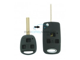Lexus 3 Button Remote Flip Key Fob Case for item number LEX105 - key blade TOY48 - after market product