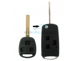 Lexus 3 Button Remote Flip Key Fob Case for item number LEX106 - key blade TOY40 - after market product