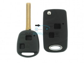 Lexus 2 Button Remote Flip Key Fob Case for item number LEX107 - key blade TOY40 - after market product
