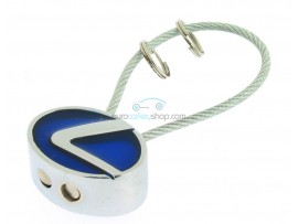 Lexus Keyring - with metal cord  - color Blue - after market product