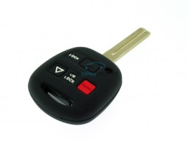 Key case Lexus- 2 button- material Soft Rubber- Color Black - after market product