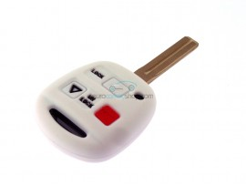 Key case Lexus- 2 button- material Soft Rubber- Color White - after market product