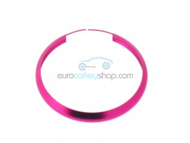 Aluminum Smart Key Fob Replacement Ring For Mini Cooper (MIN104) - Color PINK - after market product