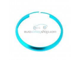 Aluminum Smart Key Fob Replacement Ring For Mini Cooper (MIN104) - Color LIGHT BLUE - after market product