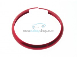 Aluminum Smart Key Fob Replacement Ring For Mini Cooper (MIN104) - Color RED - after market product