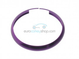 Aluminum Smart Key Fob Replacement Ring For Mini Cooper (MIN104) - Color PURPLE - after market product