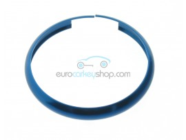 Aluminum Smart Key Fob Replacement Ring For Mini Cooper (MIN104) - Color DARK BLUE - after market product