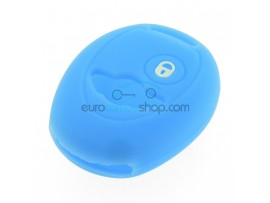 Key Cover Mini - 2 button - material Soft Rubber - Color Light blue - for articlenr MIN101 - after market product