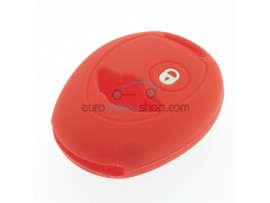 Key Cover Mini - 2 button - material Soft Rubber - Color red - for articlenr MIN101 - after market product