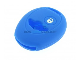 Key Cover Mini - 2 button - material Soft Rubber - Color dark blue - for articlenr MIN101 - after market product