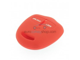 Key Cover Mitsubishi- 2 button- material Soft Rubber- Color Red - after market product