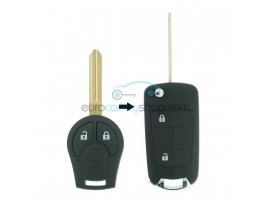 Nissan 2 button remote flip key fob case for Nissan item number NIS111 - after market product