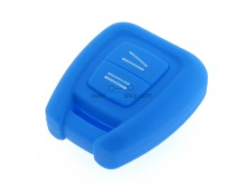 Key case Opel - 3 button- material Soft Rubber- Color BLUE - after market product