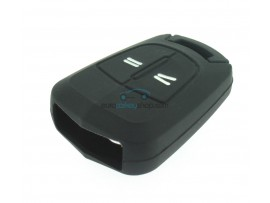 Key case Opel - 2 button- material Soft Rubber- Color Black - for itemnr  OPE104 - after market product