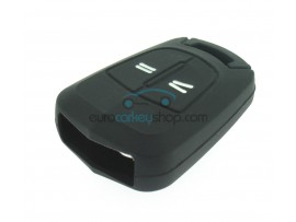 Key Cover Opel - 2 button- material Soft Rubber- Color Black - for itemnr OPE104 - after market product