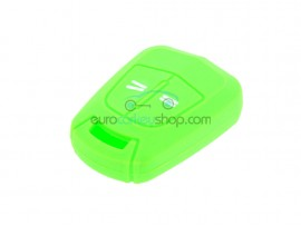 Key case Opel - 2 button- material Soft Rubber- Color light green - for itemnr OPE104 - after market product