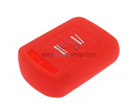 Key Cover Opel - 2 button- material Soft Rubber- Color RED - after market product