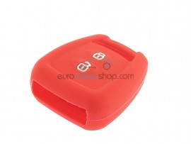 Key case Opel - 2 button- material Soft Rubber- Color Red - for itemnr OPE106 - after market product