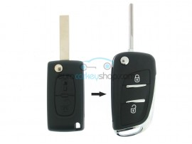 Citroen conversion kit to flip key 2 buttons for CIT106A - key blade HU83 - after market product