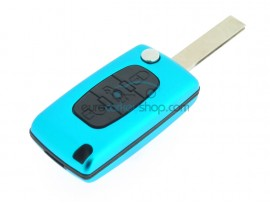 Peugeot 3 Button Flip Remote Key Fob Case - several colors - after market product
