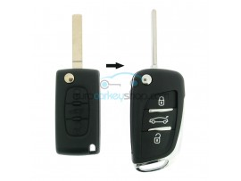 Peugeot conversion kit to flip key 3 buttons for PEU104 - key blade VA2 - after market product