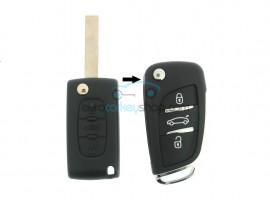 Peugeot conversion kit to flip key 3 buttons for PEU104 - key blade HU83 - after market product