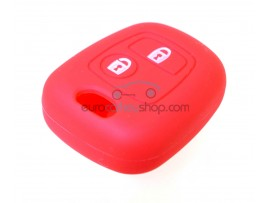 Key Cover Peugeot - 2 button- material Soft Rubber- Color RED - for articlenr PEU101 - PEU102 - PEU105 - PEU106 - after market product