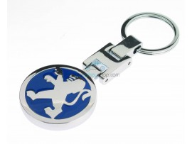 Peugeot Keyring - Luxery version  - with logo on both sides - after market product
