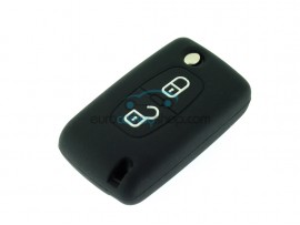 Key Cover Peugeot - 2 button- material Soft Rubber- Color Black - after market product