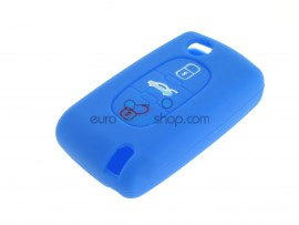 Key Cover Citroen- 3 button- material Soft Rubber- Color Blue - after market product