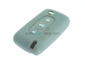 Key Cover Citroen- 3 button- material Soft Rubber- Color Gray - after market product