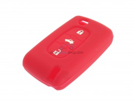 Key case Citroen- 3 button- material Soft Rubber- Color Red - after market product