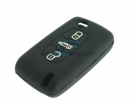Key Cover Peugeot - 3 button- material Soft Rubber- Color Black - after market product