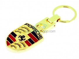 Porsche Keyring - luxury version - with logo on both sides - after market product